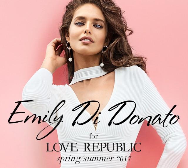 Топ-модель Эмили ДиДонато для LOVE REPUBLIC SS'17
